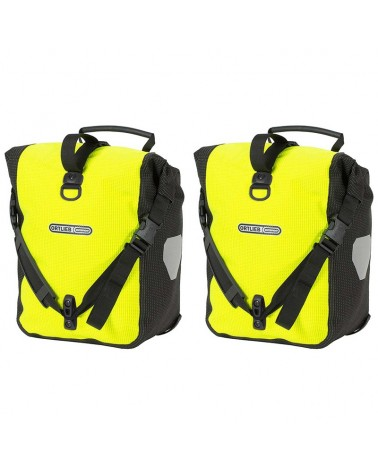 Ortlieb Front-Roller High Visibility Yellow Fluo/Black Bike Panniers, Pair