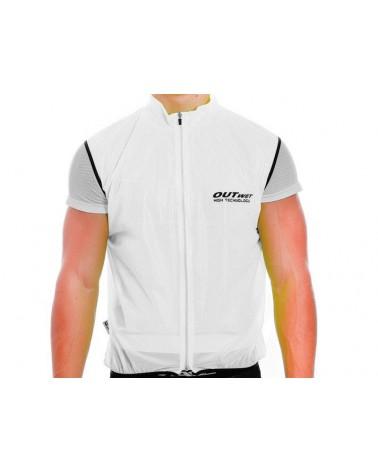 Outwet Gilet Ciclismo, Bianco