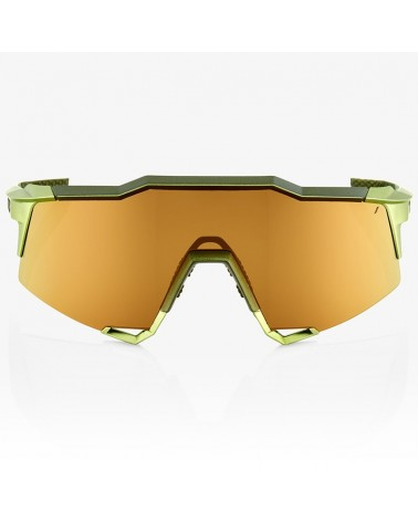 100% SpeedCraft Glasses Matte Metallic Viperidae - Bronze Multilayer Mirror Lens + Clear Lens