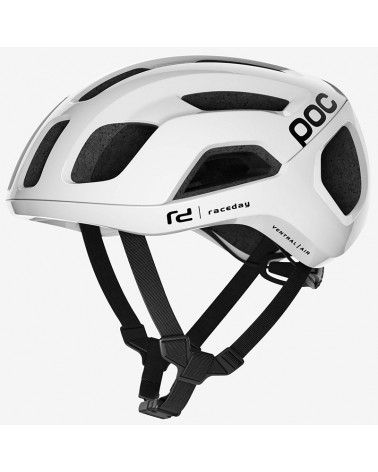 Poc Ventral Air Spin Road Cycling Helmet, Hydrogen White Raceday