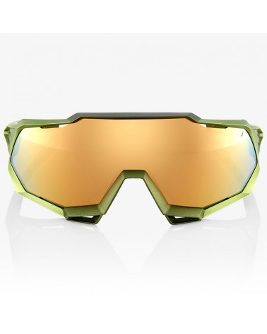 100% SpeedTrap Glasses Matte Metallic Viperidae - Bronze Multilayer Mirror Lens + Clear Lens