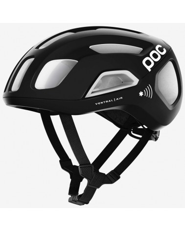 Poc Ventral Air Spin NFC Road Cycling Helmet, Uranium Black/Hydrogen White
