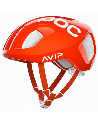 Poc Ventral Spin Road Cycling Helmet, Zink Orange AVIP