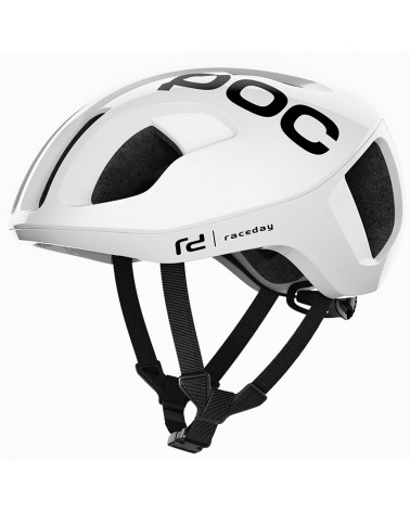 Poc Ventral Spin Road Cycling Helmet, Hydrogen White Raceday