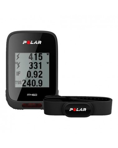 Polar M460 HR GPS Ciclocomputer con Fascia Cardio H10