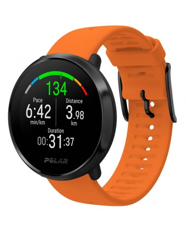 Polar Ignite GPS Fitness Watch Wrist-Based HR Size M/L, Orange/Black