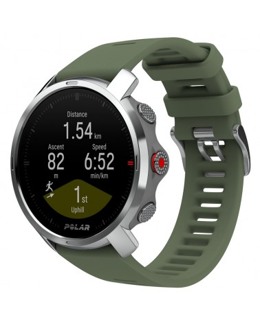 Polar Grit X GPS Multisport Watch Wrist-Based HR Size M/L, Green/Silver