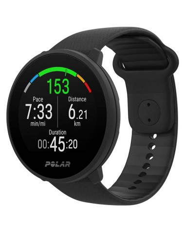 Polar Unite Waterproof Fitness Watch Wrist-Based HR and Sleep Tracking, Black