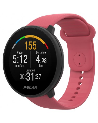 Polar Unite Waterproof Fitness Watch Wrist-Based HR and Sleep Tracking, Pink