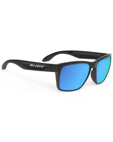 Rudy Project Occhiali Spinhawk, Black Gloss/Multilaser Blue