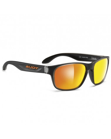 Rudy Project Occhiali Sensor, Ice Black/Multilaser Orange