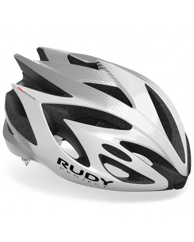 Rudy Project Rush Cycling Helmet, White/Silver (Shiny)