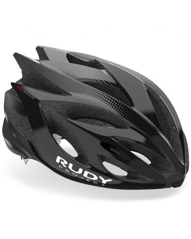 Rudy Project Rush Cycling Helmet, Black/Titanium (Shiny)