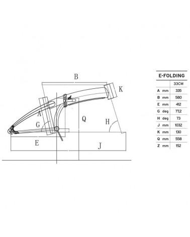 "Atala E-Folding 7s 20"" Foldable e-Bike, Black/Neon Green Matt"