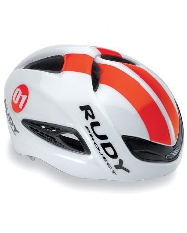 Rudy Project Boost 01 Cycling Helmet, White/Red Fluo (Shiny)