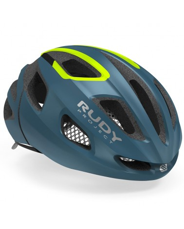Rudy Project Strym Cycling Helmet, Pacific Blue/Yellow Fluo (Matte)