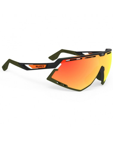Rudy Project Defender Cycling Glasses, Stripes Black Matte/Black - Multilaser Orange