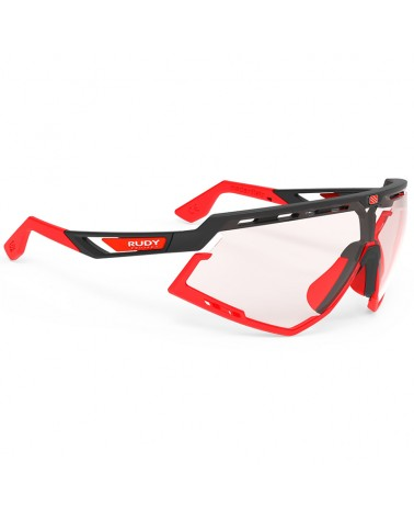 Rudy Project Defender Cycling Glasses, Black Matte/Red Fluo - ImpactX Photochromic 2 Red
