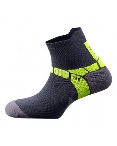 Salewa Calze Ultra Training Socks, Carbon/Yellow