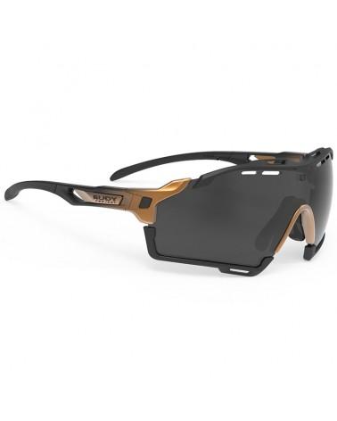 Rudy Project Cutline Cycling Glasses, Bronze Fade/Black Matte - RP Optics Smoke Black