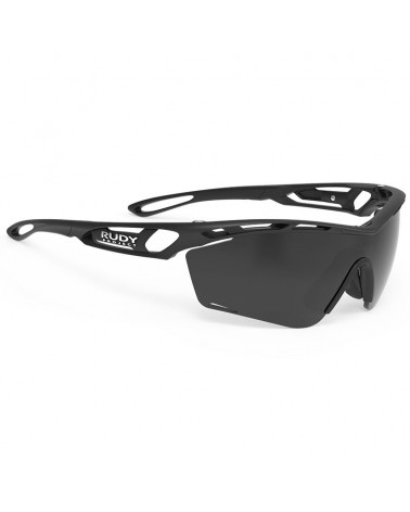 Rudy Project Tralyx Slim Cycling Glasses, Matte Black - RP Optics Smoke Black