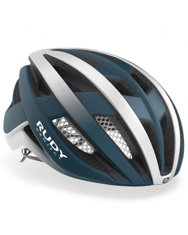 Rudy Project Venger Cycling Helmet, Pacific Blue/White (Matte)