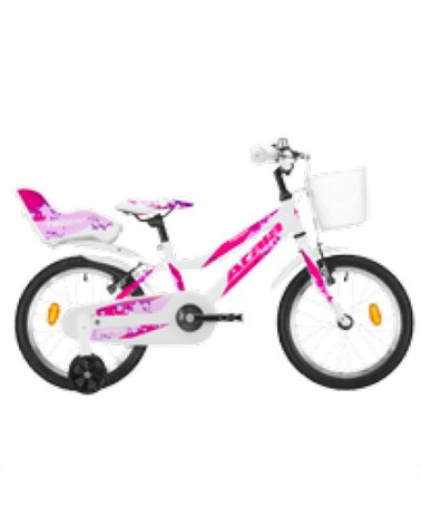 "Atala Teddy Girl 16"" 1v, White/Fuchsia"