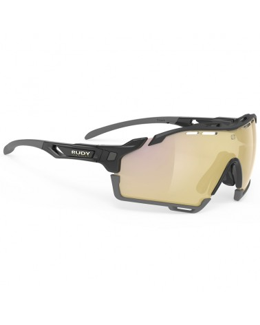 Rudy Project Cutline Cycling Glasses, Black Gloss - RP Optics Multilaser Gold