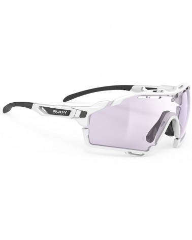 Rudy Project Cutline Cycling Glasses, White Gloss - ImpactX Photochromic 2 Laser Purple