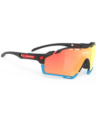 Rudy Project Cutline Cycling Glasses Bahrain McLaren Team, Black Matte - Multilaser Orange