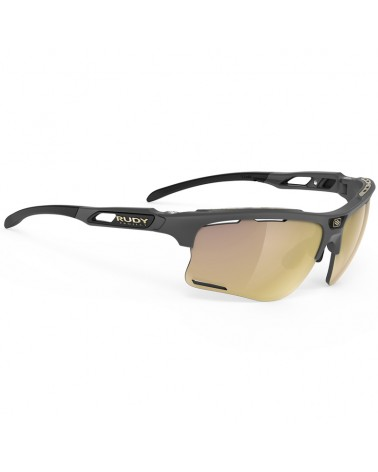 Rudy Project Keyblade Cycling Glasses, Charcoal Matte - RP Optics Multilaser Gold