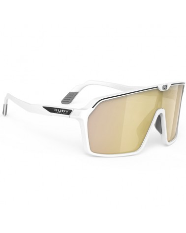 Rudy Project Spinshield Cycling Glasses, White Matte - RP Optics Multilaser Gold