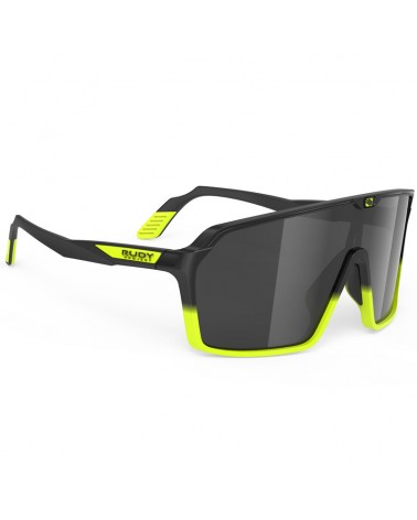 Rudy Project Spinshield Cycling Glasses, Black Fade Yellow Fluo Matte - RP Optics Smoke Black