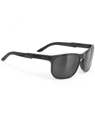 Rudy Project Soundrise Glasses, Black Gloss - RP Optics Smoke Black