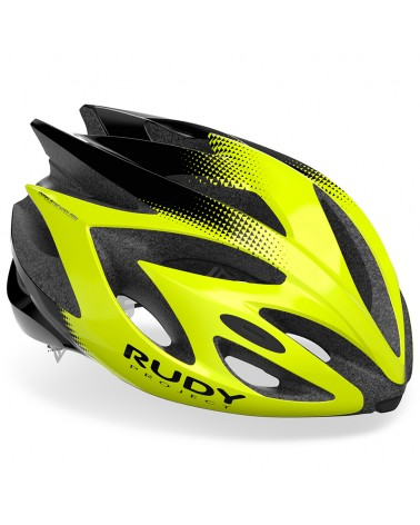 Rudy Project Rush Cycling Helmet, Yellow Fluo/Black (Shiny)