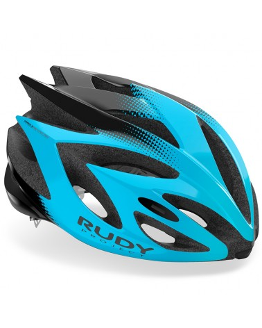 Rudy Project Rush Cycling Helmet, Azur/Black (Shiny)