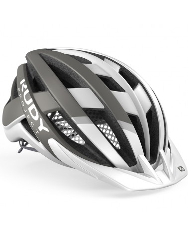 Rudy Project Venger Cross Cycling Helmet, White/Grey (Matte)