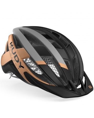 Rudy Project Venger Cross Cycling Helmet, Black/Bronze (Matte)