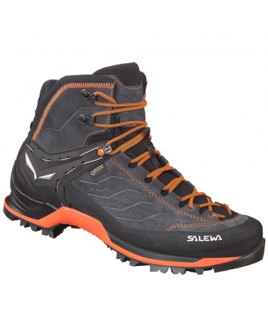 Salewa MTN Trainer Mid GTX Gore-Tex MS Scarponi Uomo, Asphalt/Fluo Orange