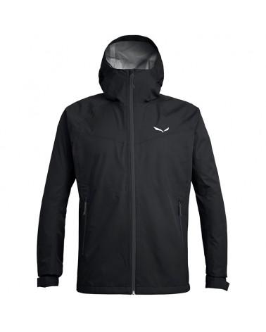Salewa Puez (Aqua 3) PTX Powertex Waterproof Men's Jacket, Black Out/0730