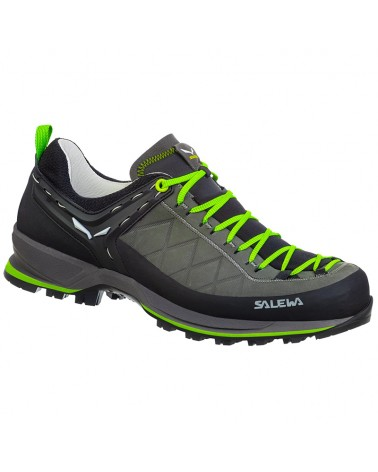 Salewa MTN Trainer 2 Leather MS Men's Approach Shoes, Smoked/Fluo Green