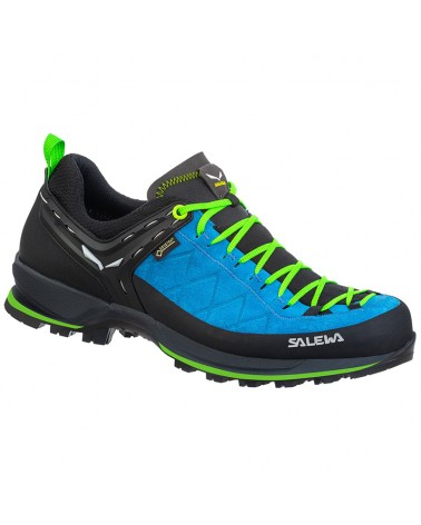 Salewa MTN Trainer 2 GTX Gore-Tex MS Men's Approach Shoes, Blue Danube/Fluo Green