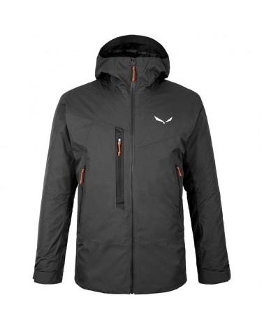 Salewa Pelmo Powertex 2-layer Men's Waterproof Convertible Hardshell Jacket, Black Out
