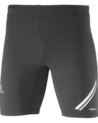 Salomon Pantaloncini Running Agile Short Tight, Black