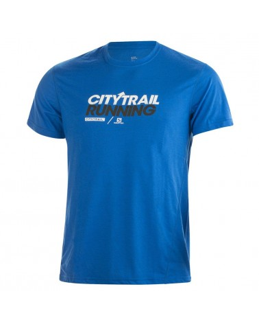 Salomon T-Shirt Citytrail Graphic Tee, Union Blue