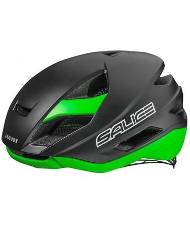 Salice Levante Casco Bici, Nero/Verde