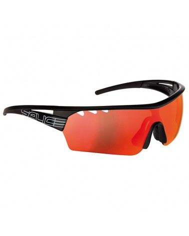 Salice Glasses 006 Black/Rw Red + Clear Lenses