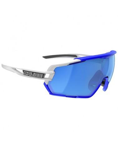 Salice 020 RW Glasses White/RW Blue + Clear Lenses