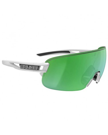 Salice 021 RW Glasses White/RW Green + Clear Lenses