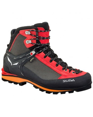 Salewa MS Crow GTX Gore-Tex Scarponi Uomo, Black/Papavero